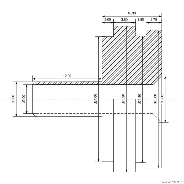 Схема головки цилиндра